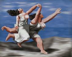 Title: Pablo Picasso - Two Women Running on the Beach (The Race) (1922) RemixArtist:  Valentin Salja