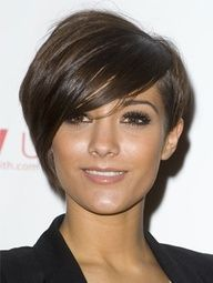 Cute Asymetrical Bob/Pixie cut. Maybe if I wanted to keep it short