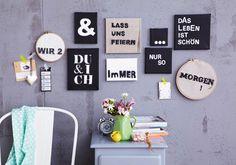 Bildersammlung: Schriftbilder selber machen - Schritt für Schritt: Bildersammlung - [LIVING AT HOME]