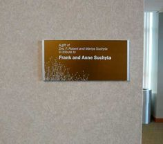 Anodized bronze donor plaque with silk screen graphics. The floral pattern is used on all the Cancer Center recognition. Web Banner Design, Employee Recognition, Letter Recognition, Wayfinding Signage, Signage Design, Donor Wall, Interactive Walls, Wall Exterior, Office Signs