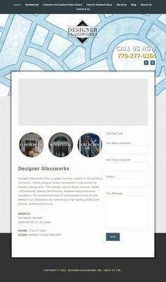 Stained Glass Door, Portfolio Web Design, Commercial, Website