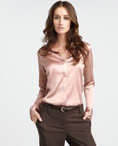 bfaa21328f4889 Ann Taylor silk legacy blouse New Eternally chic
