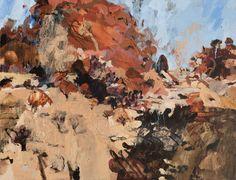 Luke Sciberras - King Street Gallery on William Abstract Landscape, Landscape Paintings, Landscapes, Street Gallery, Watercolor Sunflower, Australian Artists, Watercolour Painting, Art Ideas, Travel