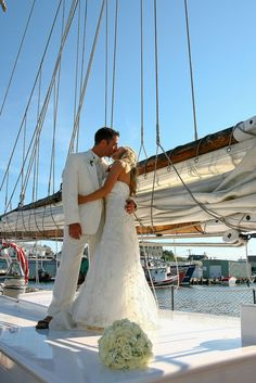 Wedding on boat.