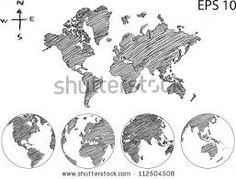 Sketches of the globe travel book pinterest globe sketches earth globe with world map detail vector line sketch up illustrator eps 10 buy this stock vector on shutterstock find other images gumiabroncs Image collections