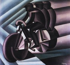 Cyclist Multiplied by Fortunato Depero