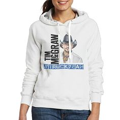 Tim McGraw Womens Long Sleeve Hoodie XL White -- You can find more details by visiting the image link.  This link participates in Amazon Service LLC Associates Program, a program designed to let participant earn advertising fees by advertising and linking to Amazon.com.