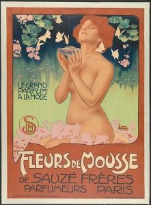 """""""Fleurs de Mousse: le grand parfum à la mode, Sauzé frères, parfumeurs, Paris"""", Marseille, late 19th early 20th century (Commercial & advertising posters, France) #Booktower"""