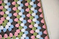 Granny Square Baby Blanket - Hayley. $55.00, via Etsy.