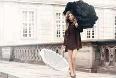 Beautiful Black and White umbrellas by Lisbeth Dahl  www.artandmore-shop.de