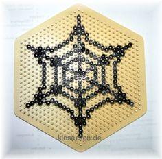 Bügelperlen-Vorlage Spinnennetz