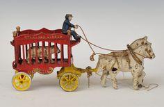 Glass: Mon, May Cast Iron, It Cast, Sat, Lion Tamer, Victorian Life, Pull Toy, Big Top, Draft Horses, Polar Bear