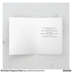 Birthday Pregnant Mom Card   Zazzle.com Special Birthday, It's Your Birthday, Easter Images Free, Mom Cards, Pregnant Mom, Love You, My Love, Custom Greeting Cards, Thoughtful Gifts