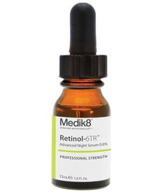 Medik8 Retinol 6TR is a light super-fast absorbing vitamin A serum that rejuvenates skin at its most optimal time – at night. Contains 0.6% retinol supported by vitamin E for significantly enhanced stability as compared to other retinol products.  It reduces appearance of fine lines and wrinkles; Stimulates production of collagen and elastin; Accelerate skin renewal; Stimulates new cellular rejuvenation & its film encapsulation allows for release of Vitamin A overnight