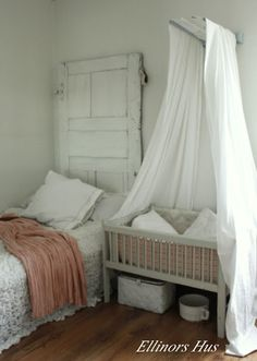 Cool idea for sharing a room with a baby