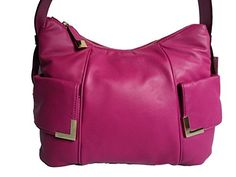 Women's Top-Handle Handbags - Michael Kors Beverly Satchel  Fuchsia -- Check this awesome product by going to the link at the image.