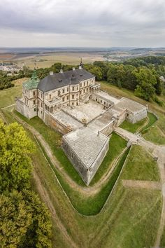 Pidhirtsi Castle - a fortified Renaissance palace in the Lviv region, Ukraine Castle Ruins, Castle House, Medieval Castle, Real Castles, Beautiful Castles, Beautiful Places, Ukraine, Great Places, Places To See