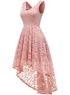 MUADRESS Women's Sleeveless Hi-Lo Lace Formal Dress Cocktail Party Dress V Neck New summer arrival~ Create a glittering appearance in front of everyone ! Pretty Dresses, Sexy Dresses, Fashion Dresses, Short Sleeve Dresses, Elegant Dresses, Summer Dresses, Backless Dresses, Dresses Dresses, Dance Dresses