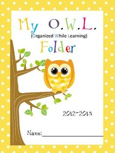Owl theme Folder Cover