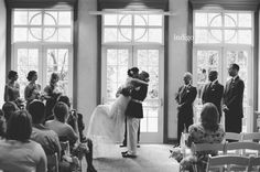 Katie & Dennis, Daniel Stowe Botanical Garden, Indigo Photography, Hall & Webb Event Design, Charlotte Wedding Planner, Wedding Kiss Photo, Black and White Wedding Photography