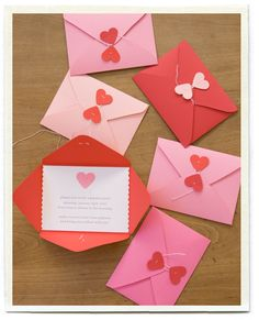 Valentine's Day Cards and Envelopes! So adorable...these were actually used as a child's birthday party invite! How adorable...