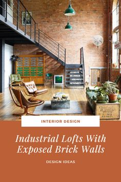 Industrial Lofts With Exposed Brick Walls >> >> >> Hay the design, Look at some decorating. Interior Design Guide, Interior Design Institute, Interior Design Pictures, Industrial Interior Design, Interior Design Magazine, Industrial Loft, Best Interior, Wall Design, House Design