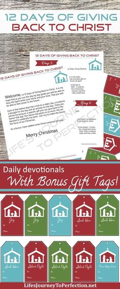 Life's Journey To Perfection: 12 Days of Giving Back to Christ Ebooklet