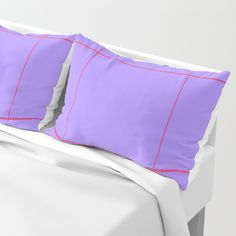 Grid Lavender and Pink Pillow Sham by Bravely Optimistic | Society6