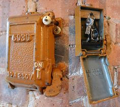 cast iron key storage converted from an antique 1940 s revo fuse rh pinterest com Old Electrical Fuse Panels Old House Fuses