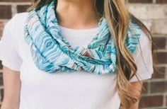 Ikat infinity scarf