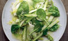 Spinach fennel asparagus salad