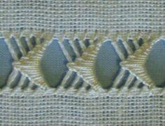dr thr sampler buttonhole stitch 2 - stitchin fingers LACE - already under Embroiderdrawn thread work Hardanger Embroidery, Hand Embroidery Stitches, Embroidery Techniques, Ribbon Embroidery, Cross Stitch Embroidery, Embroidery Patterns, Loom Patterns, Needlepoint Stitches, Needlework