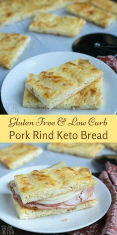 A no carb bread is almost impossible to make. But, this low carb pork rind keto bread comes pretty close to being zero carb. | LowCarbYum.com