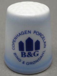 Bing & Grondahl-Copenhagen, Denmark. Edicion UK y USA. TCC. Thimble-Dedal-Fingerhut.