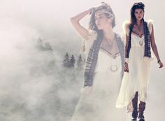 Free People lady of the canyon - Gypsy Heart Dress, Phoenix Boot, Trimmed in Fur Sweater Vest, Comoros Moon Pendant. #Hippie #Boho #White   http://www.freepeople.com/trimmed-in-fur-sweater-vest/?cmmc=FPBlog-_-inspiration-_-ladyofthecanyoncolorinspiration-_-trimmedinfurvest