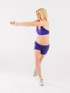 For a toning exercise that works your abs, arms, shoulders, obliques, butt, and legs, turn to the cursty punch.