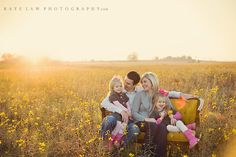I love this look! And good news to my clients! I am buying a yellow vintage sofa for my studio and of course the field! I cannot wait for the first family session with it! ;) And the second, and the third .... lol