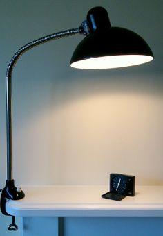 Kaiser Idell Model 6739 desk lamp designed by the Bauhaus teacher Christian Dell