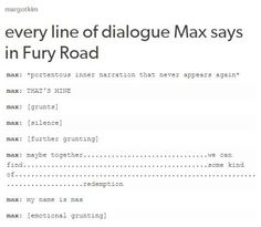 Mad Max Fury(family) Road (spoilers?)