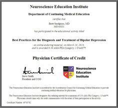 On 03 14 2014 I earned 0.5 AMA PRA category one continuing medical education credits. Many patients present to the primary care physicians office with depression, and this credit was very relevant to my planned future practice. #CME