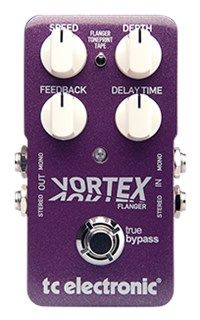Vortex Flanger - TonePrint Enabled Flanger Pedal | TC Electronic - An endless list of immortal artists have used a flange effect to create magic. From The Beatles to Pink Floyd to Van Halen, Metallica and the Red Hot Chili Peppers - now, with Vortex Flanger all those sounds are yours for the rocking.