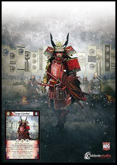 Ilustración que he realizado para la carta Yogo Gorobei que aparece en la nueva expansión The New Order del CCG The Legend of the Five Rings. Art for L5R The New Order card, Yogo Gorobei.