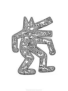 c9e2db62 Dog, 1985 by Keith Haring Modern Prints, Modern Artwork, Modern Posters,  Keith