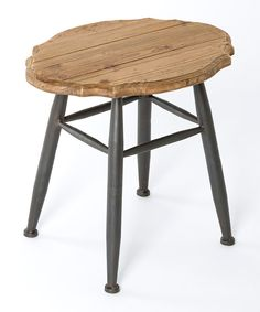 Look at this Wood Belfort Stool on #zulily today!