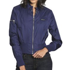 Nylon Bomber Women's Blueberry