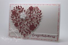 Occasions Catalogue 2016 Sneak Peak - Love Blossoms suite: Blushing Bride Glimmer Paper, Bloomin' Heart Thinlits Dies & Love Blossoms DSP paper stack. I am in {LOVE}! Kelly Kent - mypapercraftjourney.com.