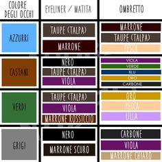 Colori make-up per occhi marroni