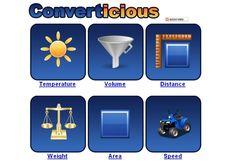 Converticious.com, equivalencias y medidas