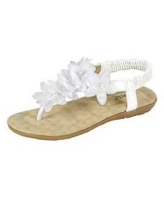 ef7fabf3cf570 Take a look at this White Calista Sandal today! Sandales Ornées
