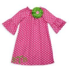 put a flower on it!  kids clothing and dresses at lollywollydoodle.com